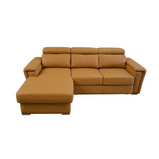Latitude Run Cheshire Leather Sleeper Sectional