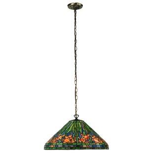Hanging Daffodil 1-Light Bowl Pendant by Meyda Tiffany