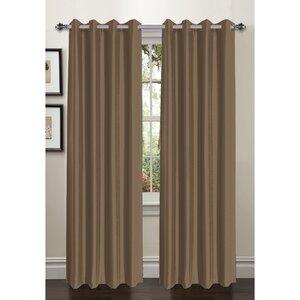 Bliss Solid Room darkening Thermal Grommet Curtain Panels (Set of 2)