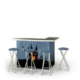 Zaddy Halloween Haunted House 5-Piece Bar Set