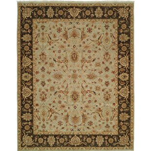 Top Reviews Royal Zeigler Hand-Knotted Beige/Black Area Rug By Shalom Brothers