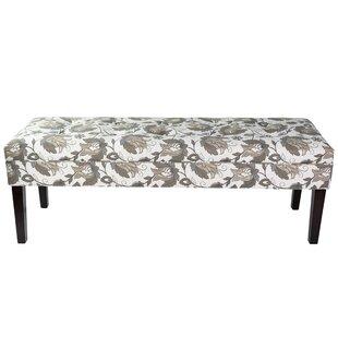 Red Barrel Studio Terese Floral Upholstered Bench