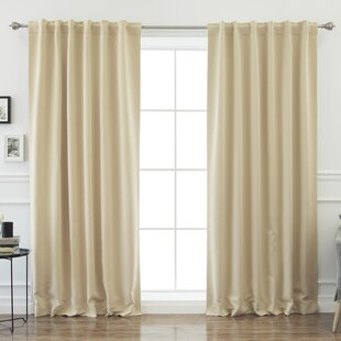 Sweetwater Blackout Solid Thermal Curtain Panels (Set of 2) by Beachcrest Home