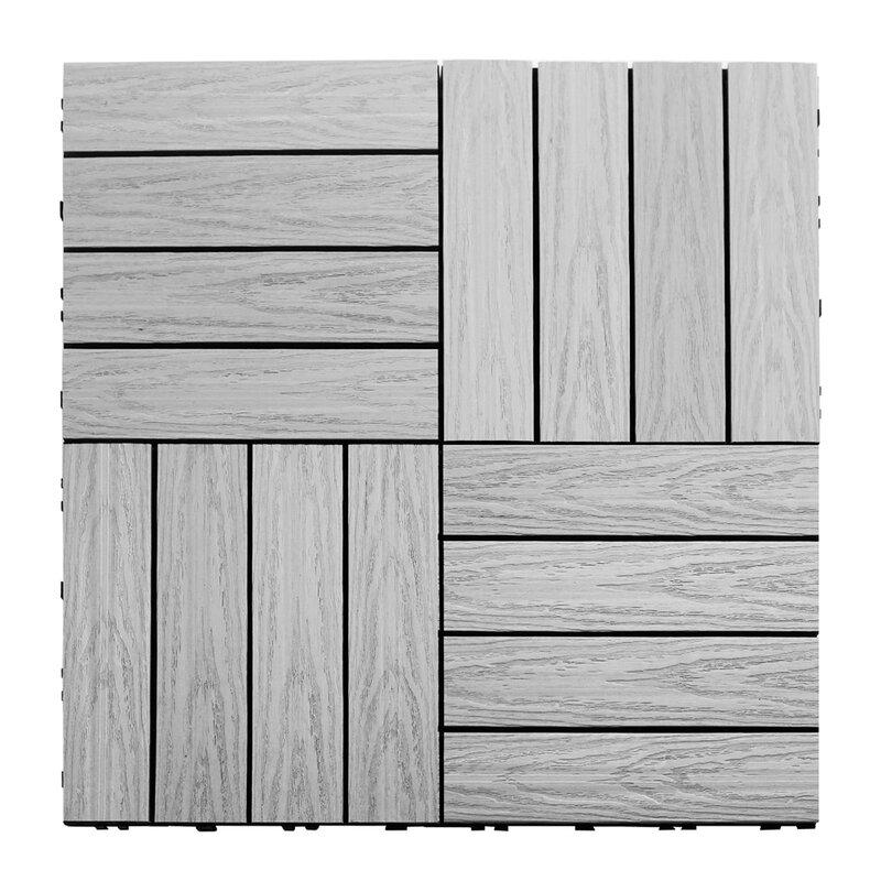 Newtechwood Naturale Composite 12 X Interlocking Deck Tiles In Icelandic Smoke White Reviews Wayfair