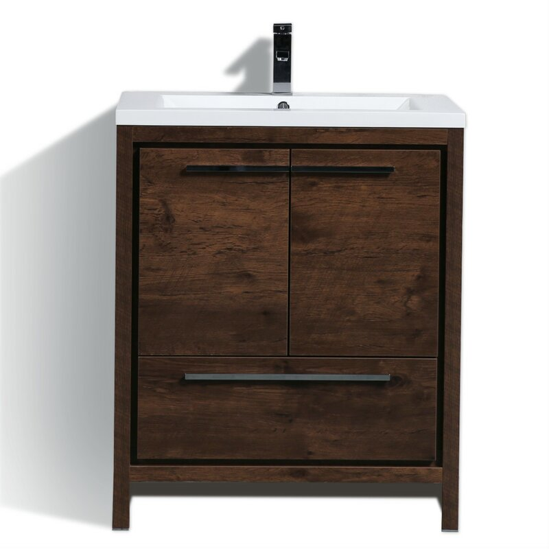 Langley Street Almendarez Free Standing Modern 30 Single Bathroom Vanity Set Reviews