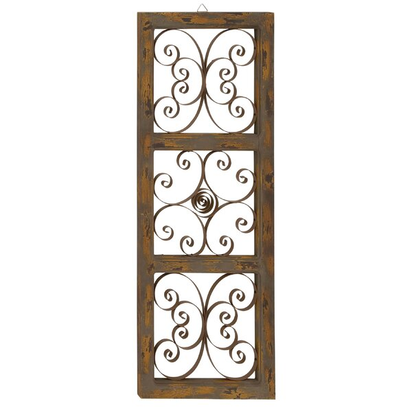 Three Posts Wood and Metal Wall Décor & Reviews | Wayfair