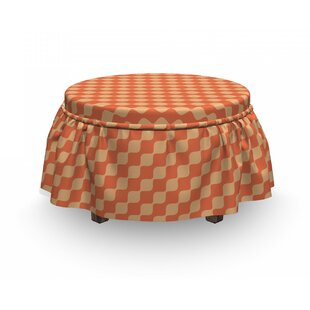 Wavy Lines In Ottoman Slipcover (Set Of 2) By East Urban Home
