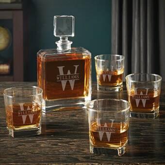 Alcott Hill Idora 3 Piece Whiskey Decanter Set Wayfair
