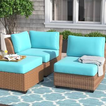 Highland Dunes Lexington Indoor Outdoor 6 Piece Replacement Cushion Set Wayfair