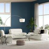 Segura 3 Piece Faux Leather Living Room Set by Orren Ellis