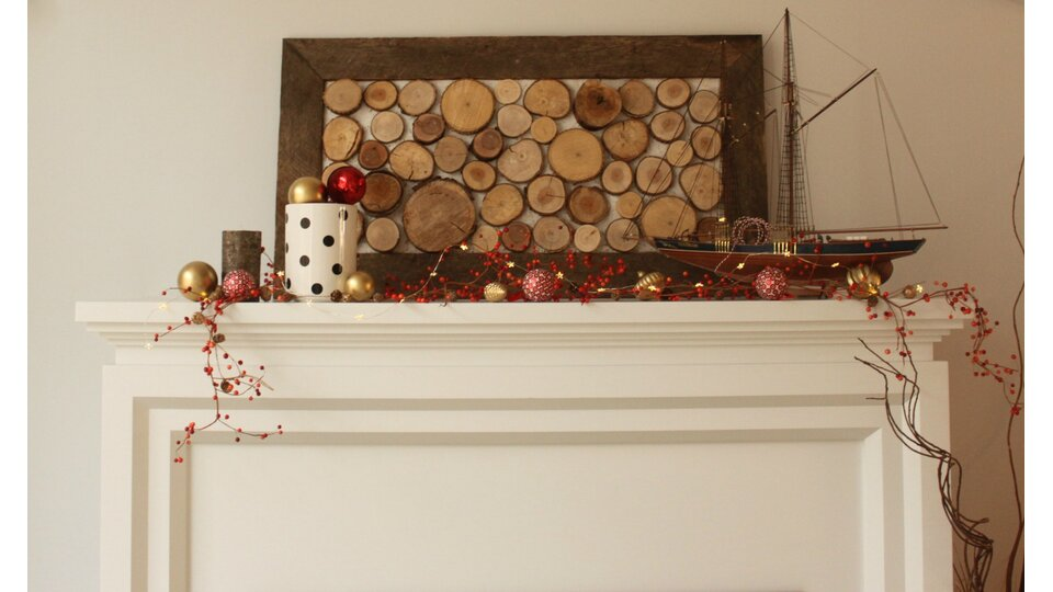 Mommyzoid christmas fireplace mantel