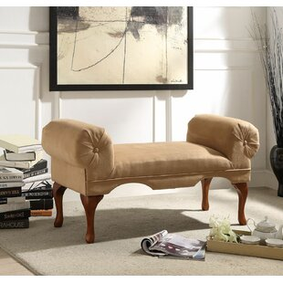 Uribe Traditional Style Button Tufted Bench by Astoria Grand