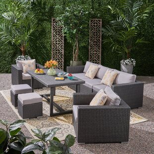 Cannes 8 Piece Sectional Seating Group with Cushions