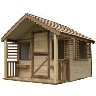 Check Prices Little Alexandra Cottage 6.17' x 8' Playhouse ByCanadian Playhouse Factory