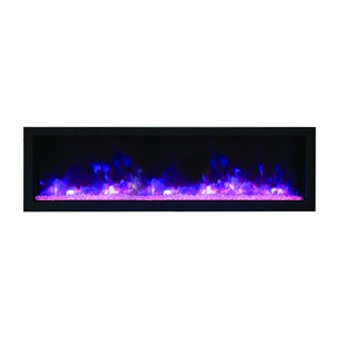 Fleeman Extra Slim Recessed Wall Mounted Electric Fireplace by Orren Ellis