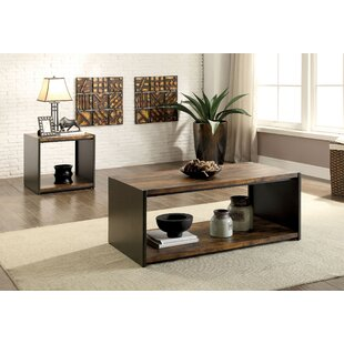 17 Stories Bourget 2 Piece Coffee Table Set