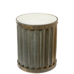 Teran Industrial Metal Accent End Table b..