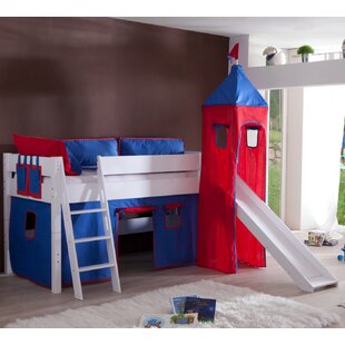 Castile European Single Mid Sleeper Bed With Tower By Zoomie Kids