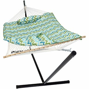 Latitude Run Carrollton Rope Polyester Hammock with Stand