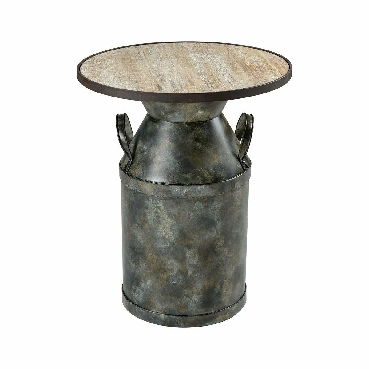 Gracie Oaks Skellytown Pedestal End Table Wayfair