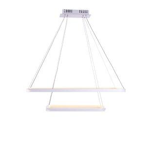 Orren Ellis Rosborough 2-Lights Geometric Chandelier