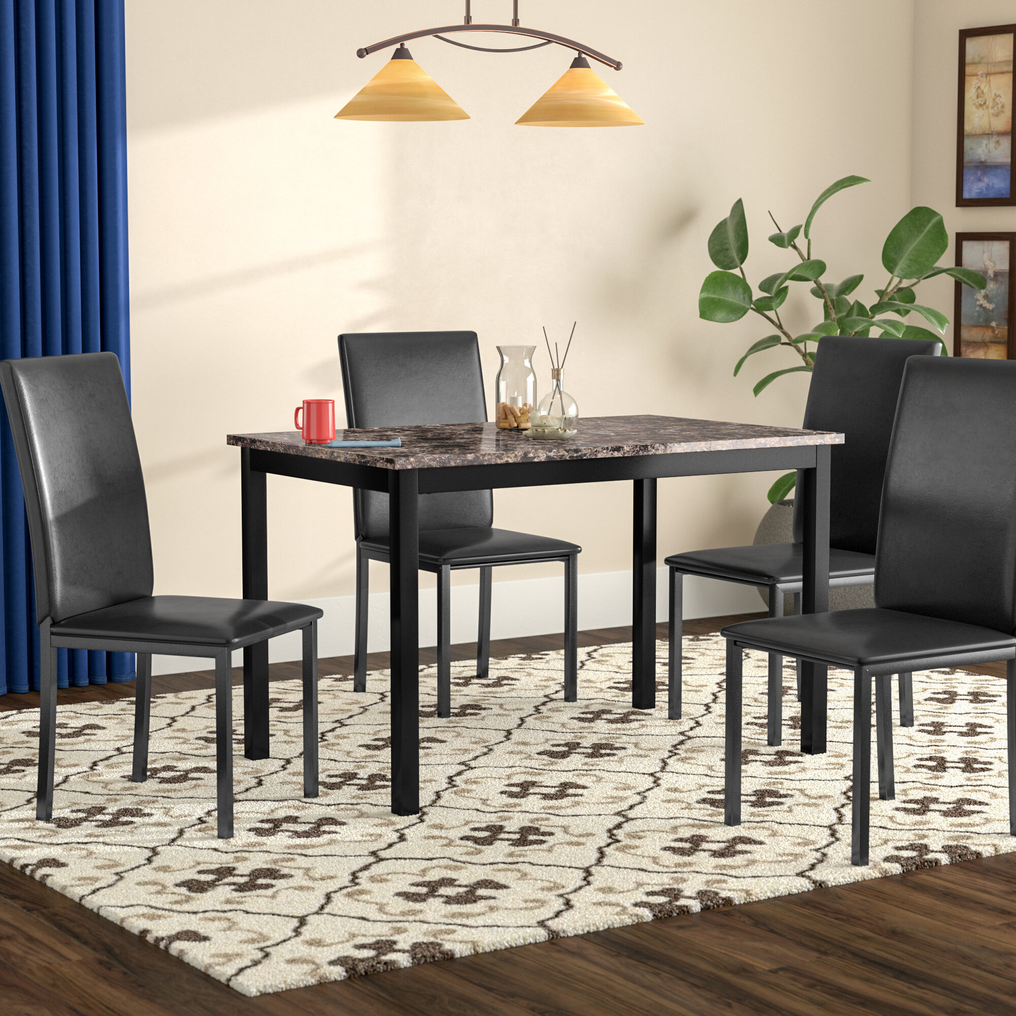 Red Barrel Studio Noyes 5 Piece Dining Set Reviews Wayfair