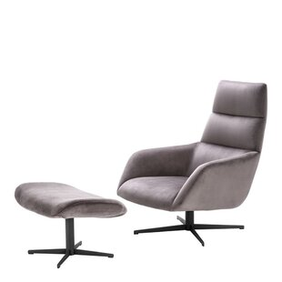 Nautilus Lounge Chair and Ottoman Eichholtz