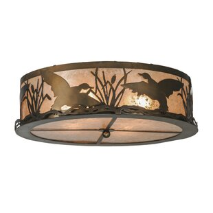 Meyda Tiffany Ducks in Flight 4-Light Flush Mount