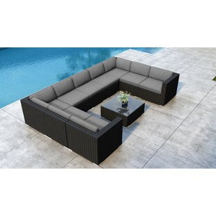Everly Quinn Glendale 10 Piece Sectional Set with Sunbrella Cushion