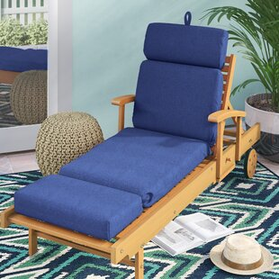 Indoor/Outdoor Polyester Sunbrella Chaise Lounge Cushion