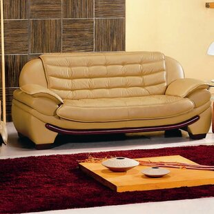 Westminster Leather Sofa by Hokku Designs Discount