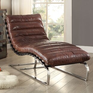 Deals Qortini Leather Chaise Lounge by A&J Homes Studio Reviews (2019) & Buyer's Guide