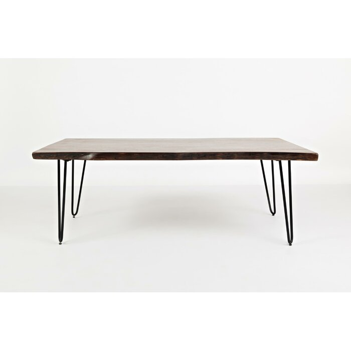 Coosada Wooden Metal Hairpin Legs Coffee Table