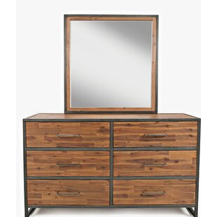Dierks Dresser with Mirror By 17 Stories