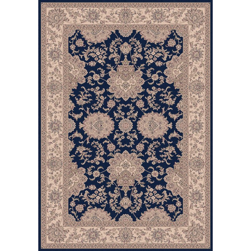 Astoria Grand Atterbury Agra Navy Rug Wayfair