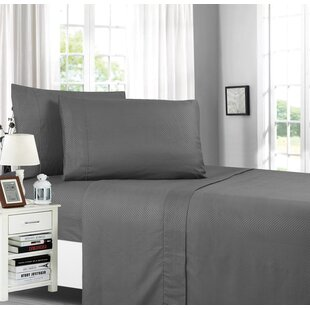 Weatherly Stain Resistant Embossed Chevron Design Sheet Set by Latitude Run Cool