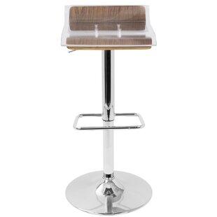 Suhel Adjustable Height Swivel Bar Stool ..