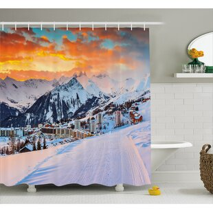 Winter Scenery Decor Single Shower Curtain