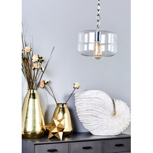 Cole & Grey 1-Light Drum Pendant