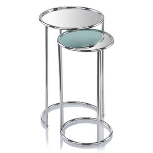 Flavia Mirror 2 Piece Nesting Tables Orren Ellis