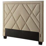 Anyriah Nailhead Upholstered Panel Headboard by Red Barrel Studio®