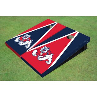 All American Tailgate NCAA 10 Piece Triangle Cornhole Board Set