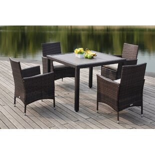 Mckenny 5 Piece Dining Set with Cushions ..
