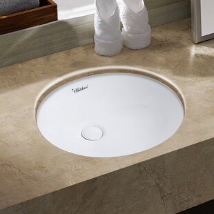 Whitehaus Collection Isabella Plus Vitreous China Oval Undermount Bathroom Sink with Overflow