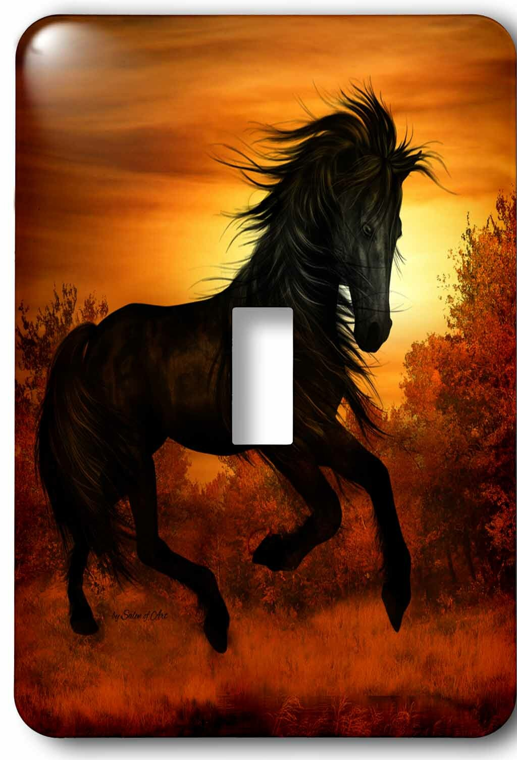 3drose Wild Horse Running In The Sunset 1 Gang Toggle Light Switch Wall Plate Wayfair