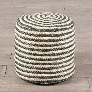Coil Stripe Pouf by ZallZo