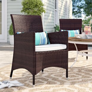 Brighton Deluxe Patio Dining Chair With Cushions (Set Of 2) by Sol 72 Outdoor 2019 Coupon