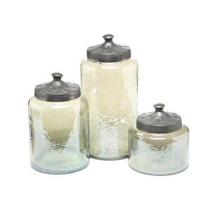 round luster 3 piece kitchen canister set - Kitchen Canister Sets