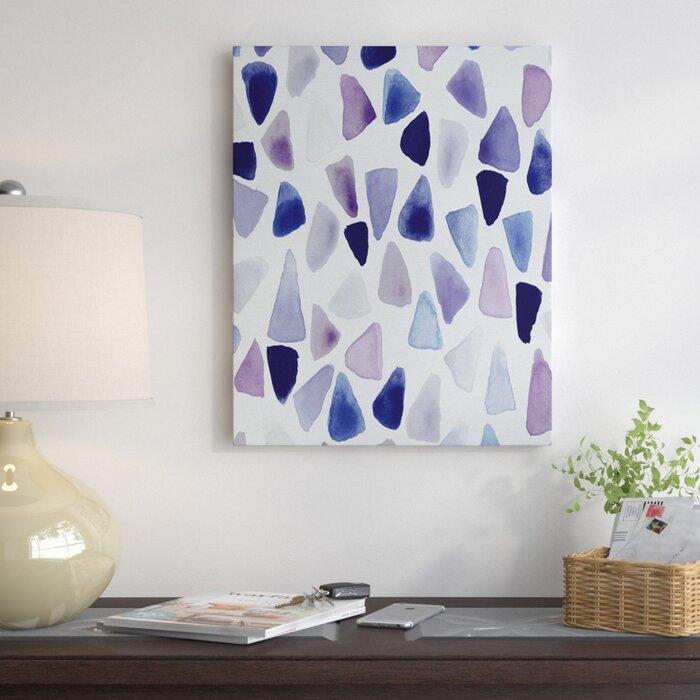 Watercolor Triangles Painting Print On Wrapped Canvas