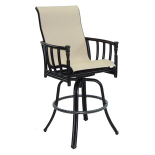 Provence Sling Swivel Patio Bar Stool By Leona